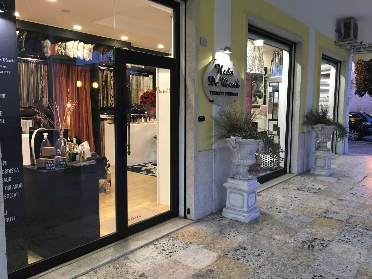 tendaggi latina - showroom nadia de marchi